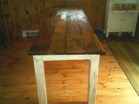 Narrow farm table possible craft table craft ideas Narrow farmhouse table plans