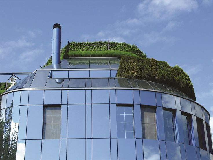 A Roof Garden creates a stunning finish to any building, such as this amazing look.
