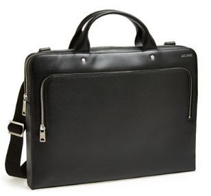FROM TUESDAY: Jack Spade-- A sleek leather briefcase offers a plethora of exterior and interior pockets so you can easily get down to business, even on your busiest days