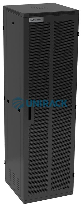 Tủ Rack 42U D600 - Tủ mạng 42U sâu 600 - Mã sản phẩm: UNR42U600 - Kích thước tủ H.2100*W.600*D.600 (Chiều cao x chiều rộng x chiều sâu) - Toàn bộ tủ được làm bằng tôn 1.2 mm và được sơn tĩnh điện màu đen chống gỉ 100% cứng cáp và bền đẹp