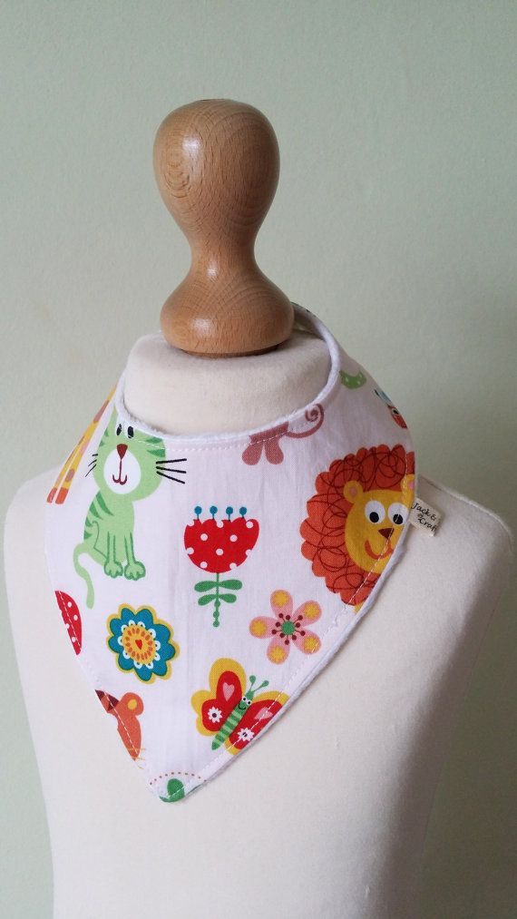 Check out this item in my Etsy shop https://www.etsy.com/uk/listing/273881224/animal-dribble-bib-baby-bandana-drool