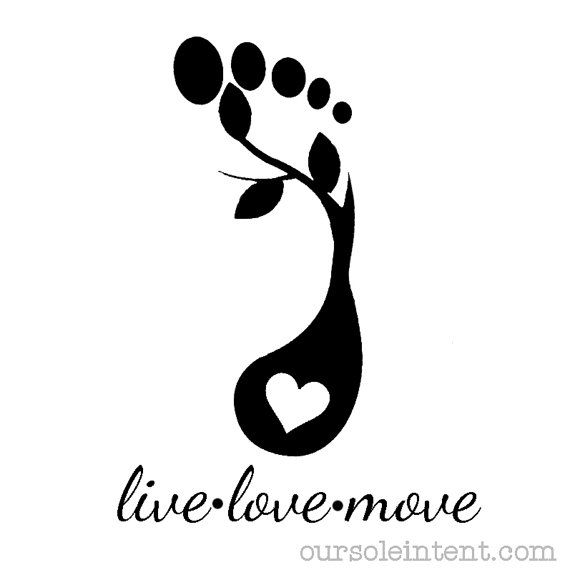 live love move 8x8  running art print by oursoleintent on Etsy