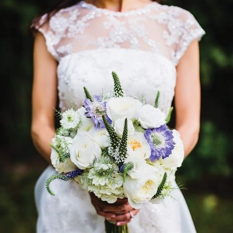 Rose and Scabiosa Bridal Bouquet