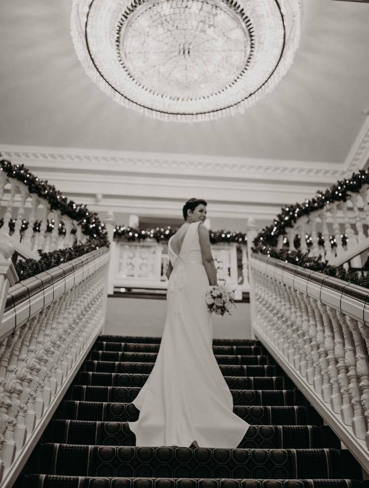 """""""Loved my dress, everyone asked where I got it! You have a beautiful selection."""" #thewhiteroom stunning bride Anne Marie"""