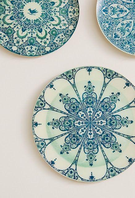 white/turquoise mandala design