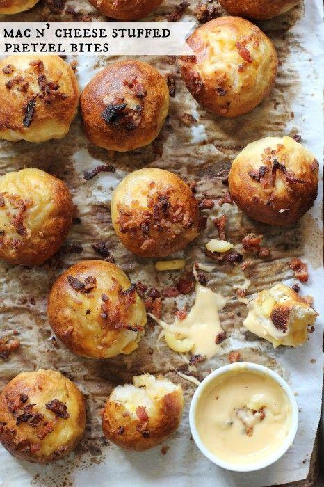 Mac n' Cheese Stuffed Pretzel Bites