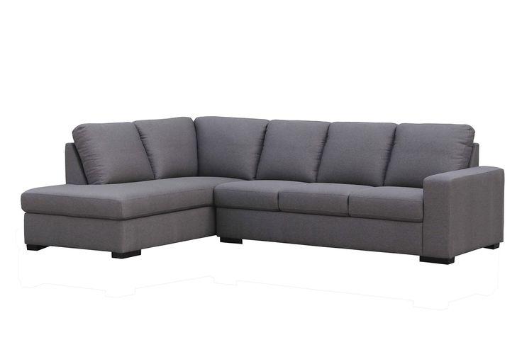 Joseph 4 Seater Fabric Chaise Sofa. Harvey Norman