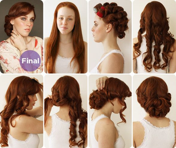 Hair  makeup team mimi  taylor show us how to get a sweet 1930s-inspired up-do* ideal for a vintage-inspired wedding.