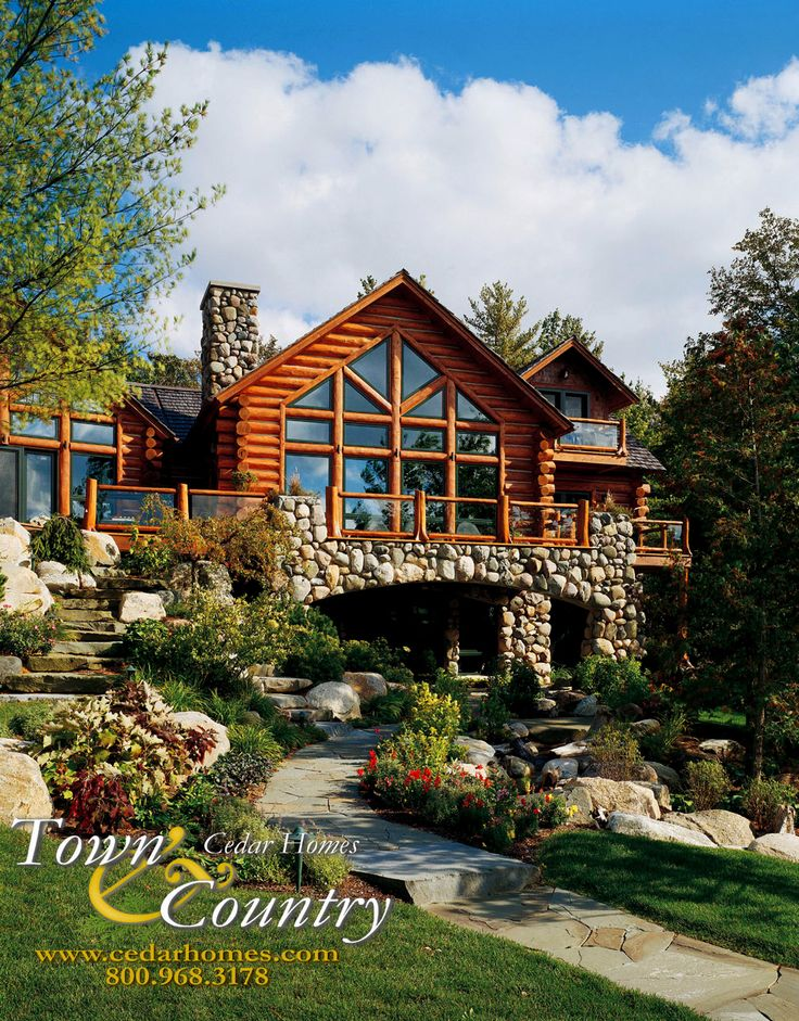 Custom cedar log homes luxury cottage floor plans for Log and stone house plans