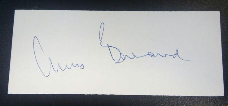 Dr. Christiaan Barnard AUTOGRAPH - 1st Heart Transplant Surgeon - Cut Signature