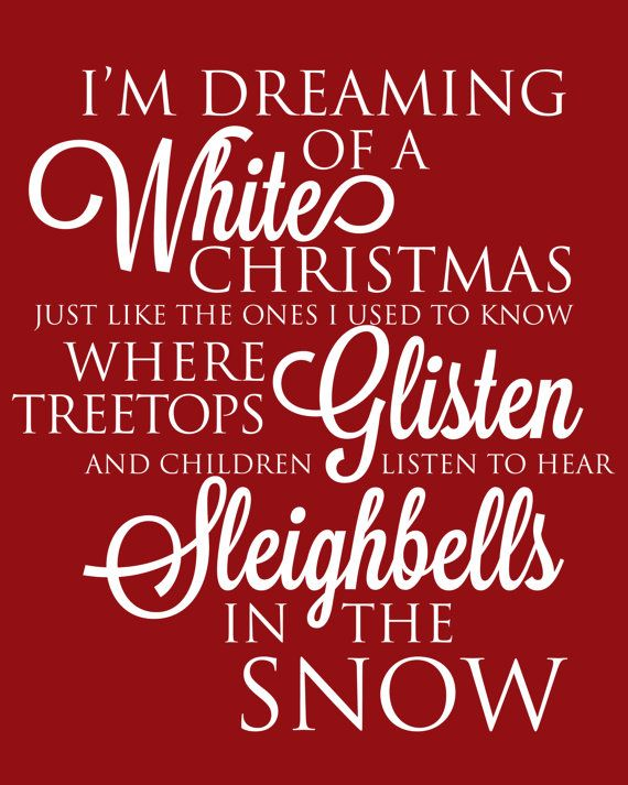 Christmas Printable Art with Christmas Carol Quote Im Dreaming of A Whit...