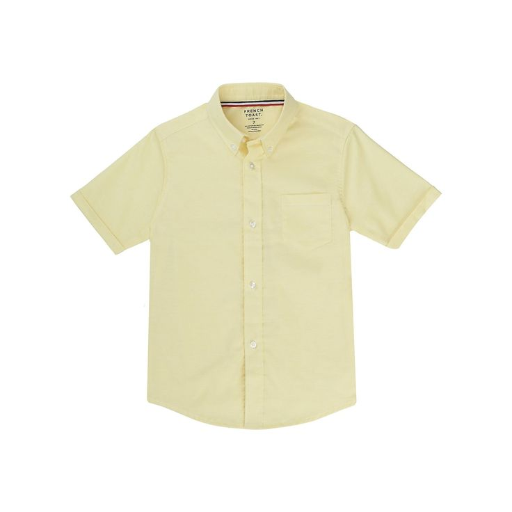 Boys 4-20 French Toast School Uniform Oxford Button-Down Dress Shirt, Boy's, Size: 14, Yellow
