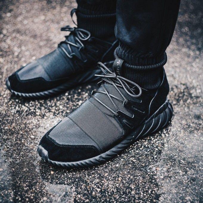 The adidas Tubular Doom Triple Black drops tomorrow for $170.