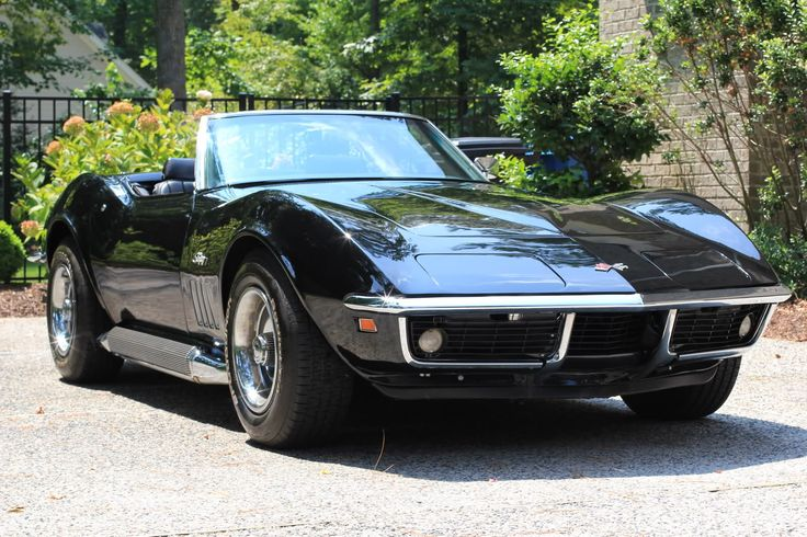 1969 Triple Black Corvette Convertible Corvettes