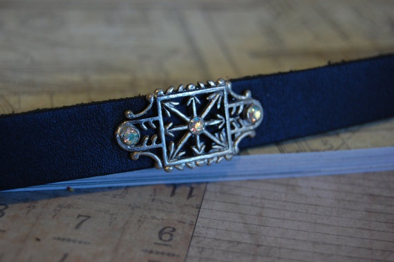 Black Leather Bracelet with Vintage Charm with by tatteredreality, $8.00: Reality Crafts, Tattered Reality, Black Leather, Vintage Charms, Leather Bracelets