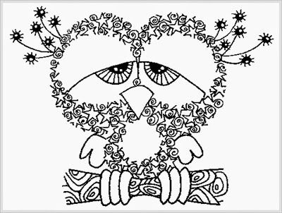 owl adult coloring pages printable