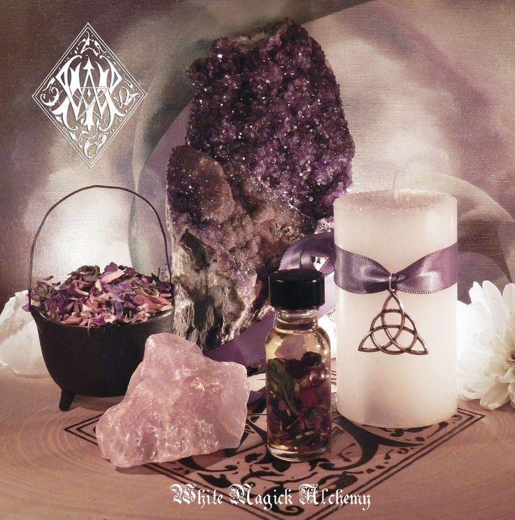 White Magick Alchemy - *Trinity Triple Goddess Ritual Set for Imbolc, Goddess Invocation, New Beginnings, Strength, Fertility