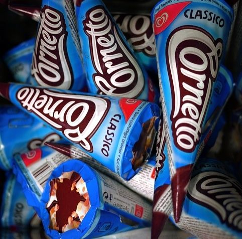 Cornetto packaging by Carter Wong