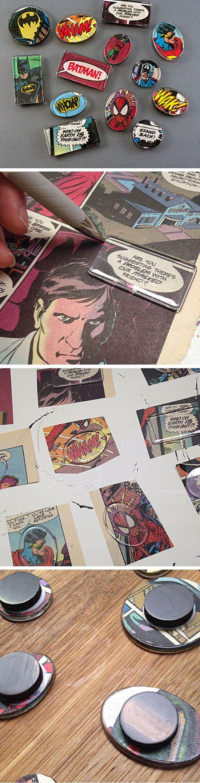 Superhero Comic Book Magnets | 20+ DIY Christmas Gifts for Kids to Make