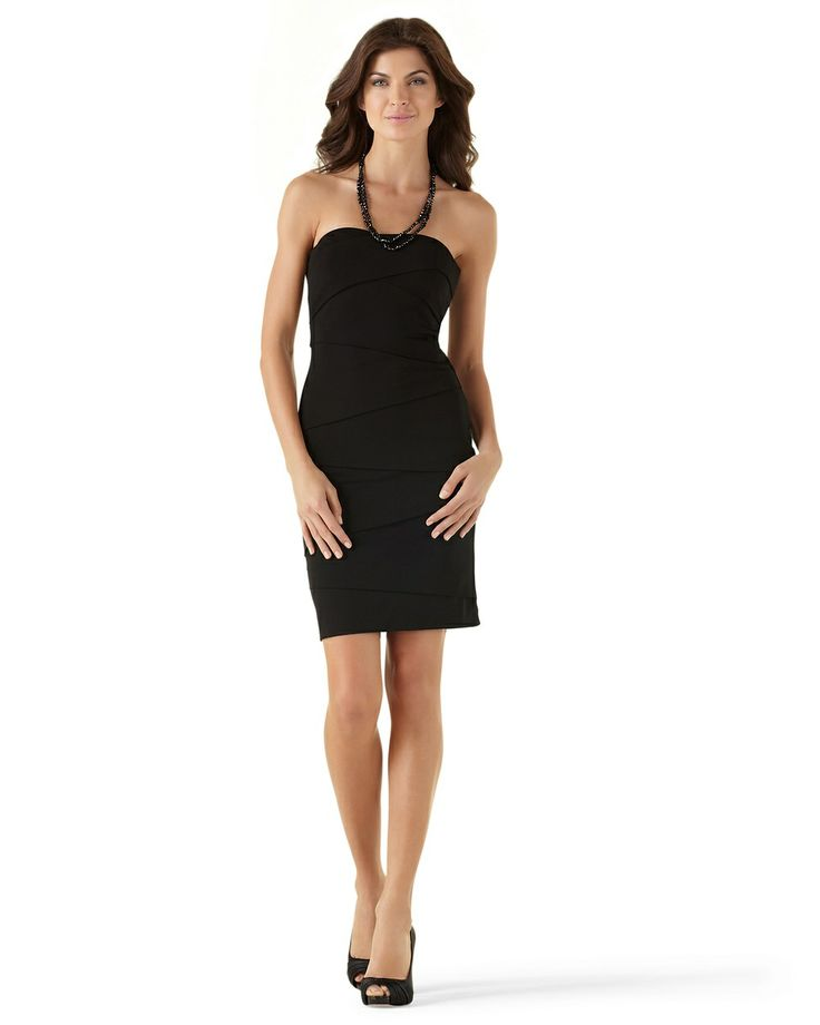 Instantly Slimming Strapless Dress