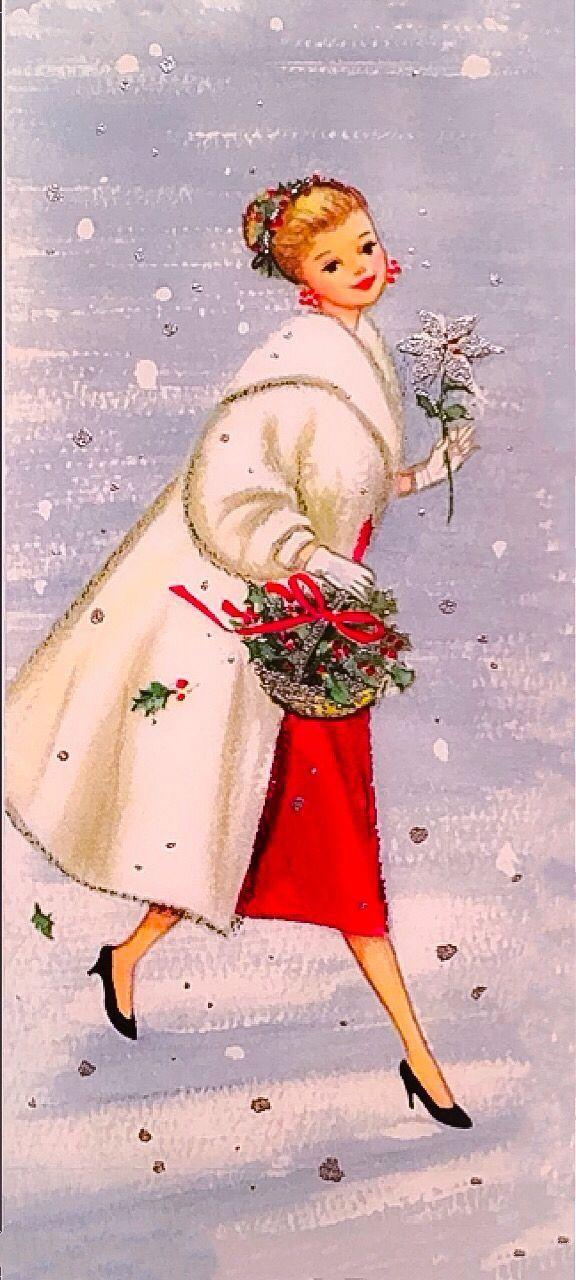 Christmas Gibson girl