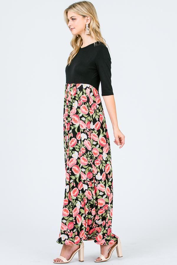 712a581d8eaf8b Aynara Fashion Floral Maxi Dress