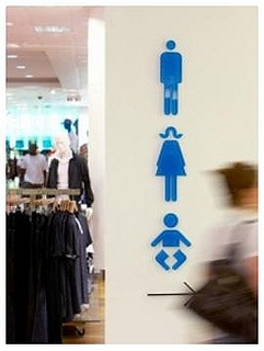 toilets symbols by Opening the Book, via Flickr
