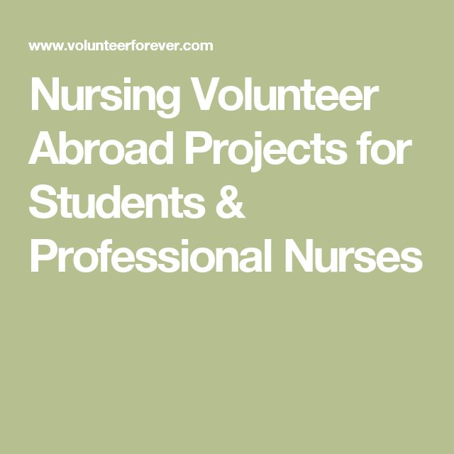 Nursing Volunteer Abroad Projects for Students & Professional Nurses