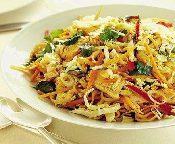 Low FODMAP Recipe - Warm Thai chicken  noodle salad:   http://www.ibssano.com/low_fodmap_recipe_warm_thai_thai_salad.html
