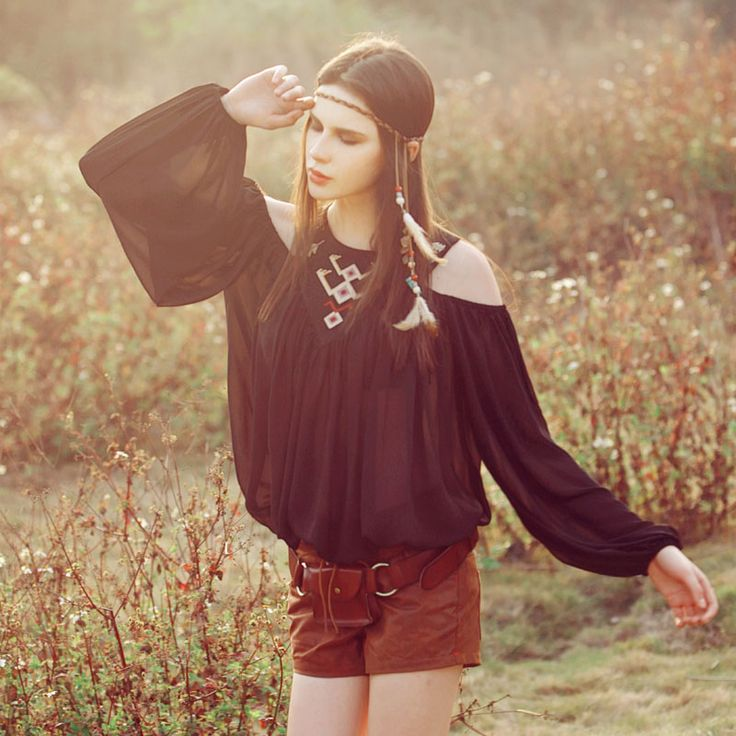 Aporia.As Spring Summer Fashion Sexy Translucent Long Sleeve Embroidery Casual Loose Plus Size All-Match Black Chiffon Blouse