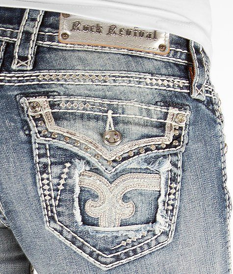 'Rock Revival Lily Straight Stretch Jean' #buckle #fashion  www.buckle.com