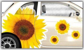 "Autoaufkleber im Druck ""Sonnenblume"""