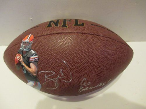 """#Brandon #Weeden #Autographed Custom #Cleveland #Browns #NFL Photo #Football Featuring """"Go Browns"""" Inscription with Proof Photo of Signing! #ClevelandBrowns #DawgPound #DogPound #NCAA #NCAAFootball #OkState #OSU #OklahomaState #OklahomaStateCowboys #OSUCowboys #Cowboys #Signed #Free #Shipping Just $149.99  Click Here: http://www.southwestconnection-memorabilia.com/Cleveland-Browns-Brandon-Weeden-Signed-Autographed/M/B00FJHW6VA.htm"""