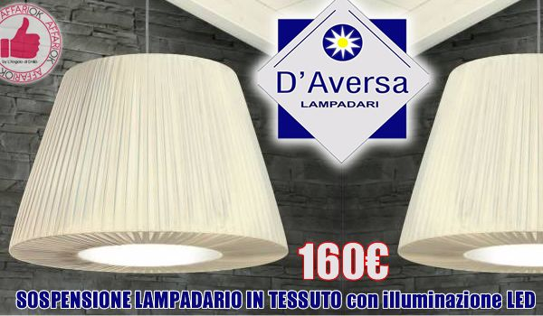 Sospensione Lampadario In Tessuto Da D'Aversa Lampadari http://affariok.blogspot.it/