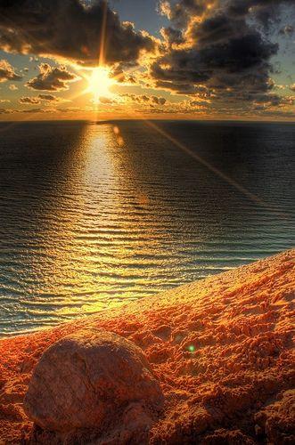 Sand Beach Sunset HD