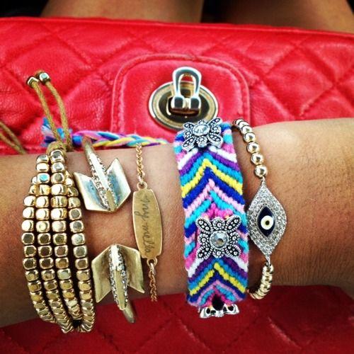 Beads + friendship bracelets.