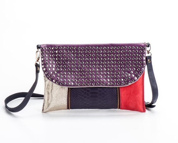 Leather Statement Clutch - SELECTIONSTYLE by VIDA VIDA