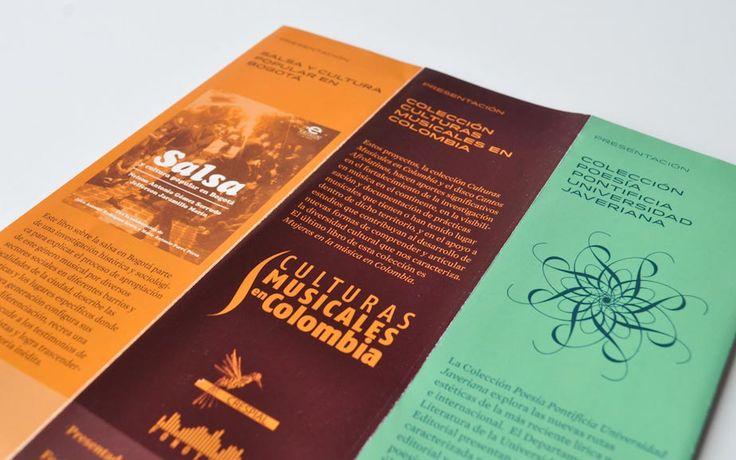 Detalle del brochure para la Editorial Javeriana Editorial Javeriana's brochure detail #brochure #brochuredesign #editorialjaveriana