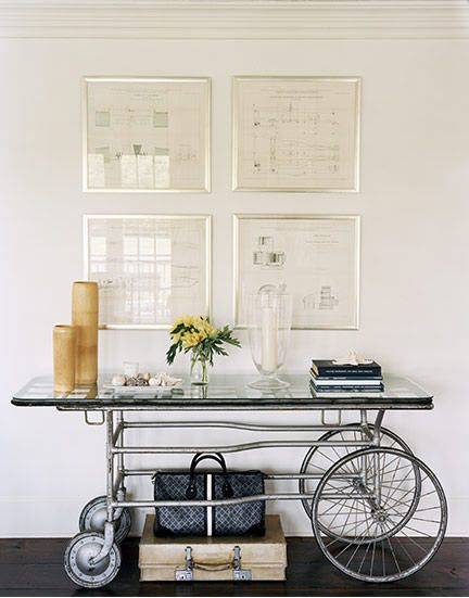 Now this is a side board!!!Decor, Modern Interiors Design, Ideas, Modern Home Design, Entry Tables, Consoles Tables, Bar Carts, Design Home, Frames Art