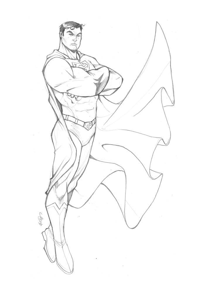 пойдет том, рисунок супермена карандашом основном, конечно