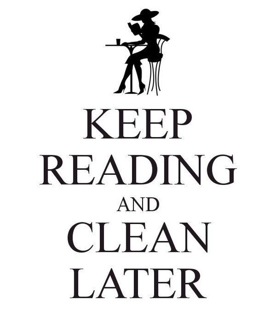 Keep reading and clean later...I don't have a problem with this !!!