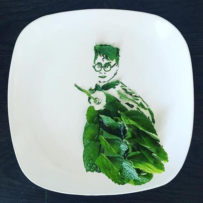 """Ünlü Yüzleri ve Sanat Eserlerini Yiyeceklerle Resmeden Sanatçı: """"Harley Langberg"""" Sanatlı Bi Blog 43"""