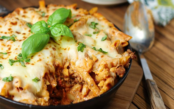 25-Minute Skillet Baked Ziti | Casserole One Pot and Crockpot Entrees ...
