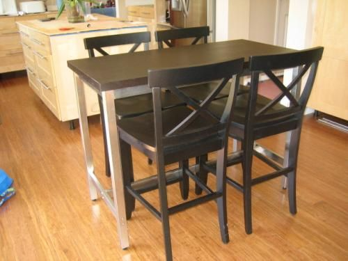 IKEA counter height stools black | Stools for kitchen ...