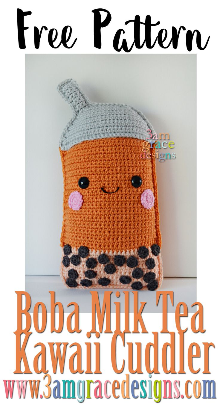 The second design in our Summer Series Kawaii Cuddlers is the Boba Milk Tea! This is our son's favorite treat in the summer and his request for design. The colors can be changed to create your favorite Boba drink. Below you will find instructions to make your very own Boba Milk Tea! Enjoy! Don't forget …