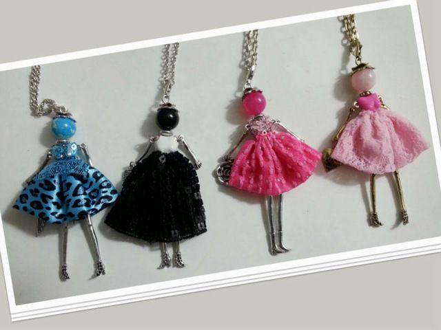2016新しい到着パリ手作り人形ペンダントネックレスアンチシルバーファッション女性ガールネックレスバッグチャームNS01603-01807-01810-004