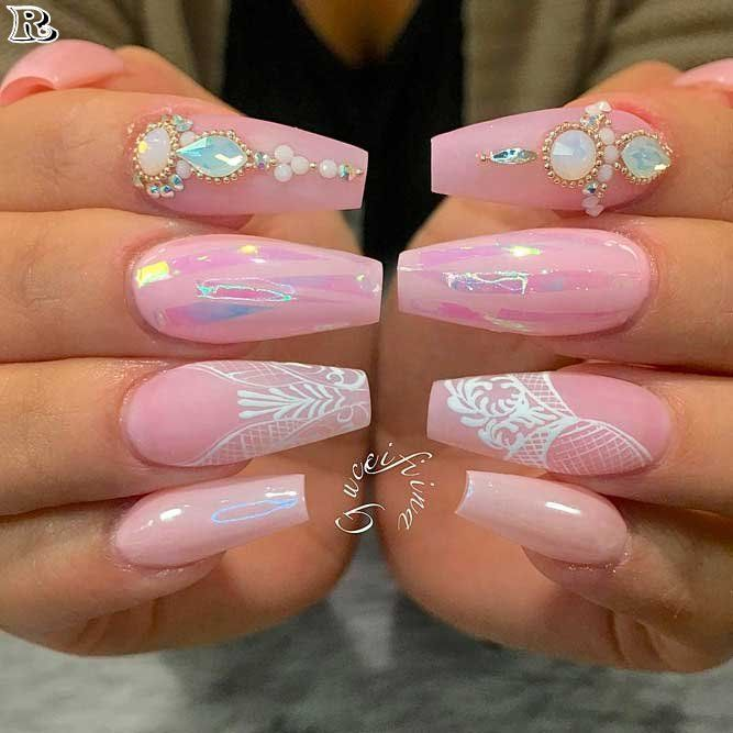 30 Stunning And Amazing Pink Acrylic Nails Reny Styles Nails Nail Art Nail Nail Polish Nail Stickers Nail Pink Acrylic Nails Gorgeous Nails Lace Nails