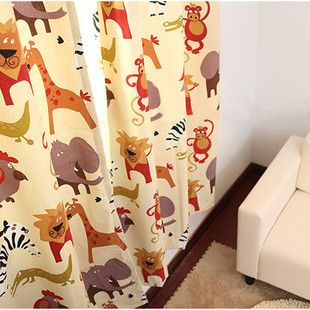 Зоопарк Король Лев африканских хлопковый холст мультфильм детская комната шторы размер можно подгонять - Taobao