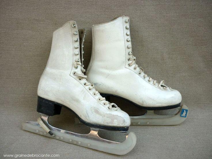 paires de patins glace vintage lana patineuse pinterest plus d 39 id es patin glace et. Black Bedroom Furniture Sets. Home Design Ideas