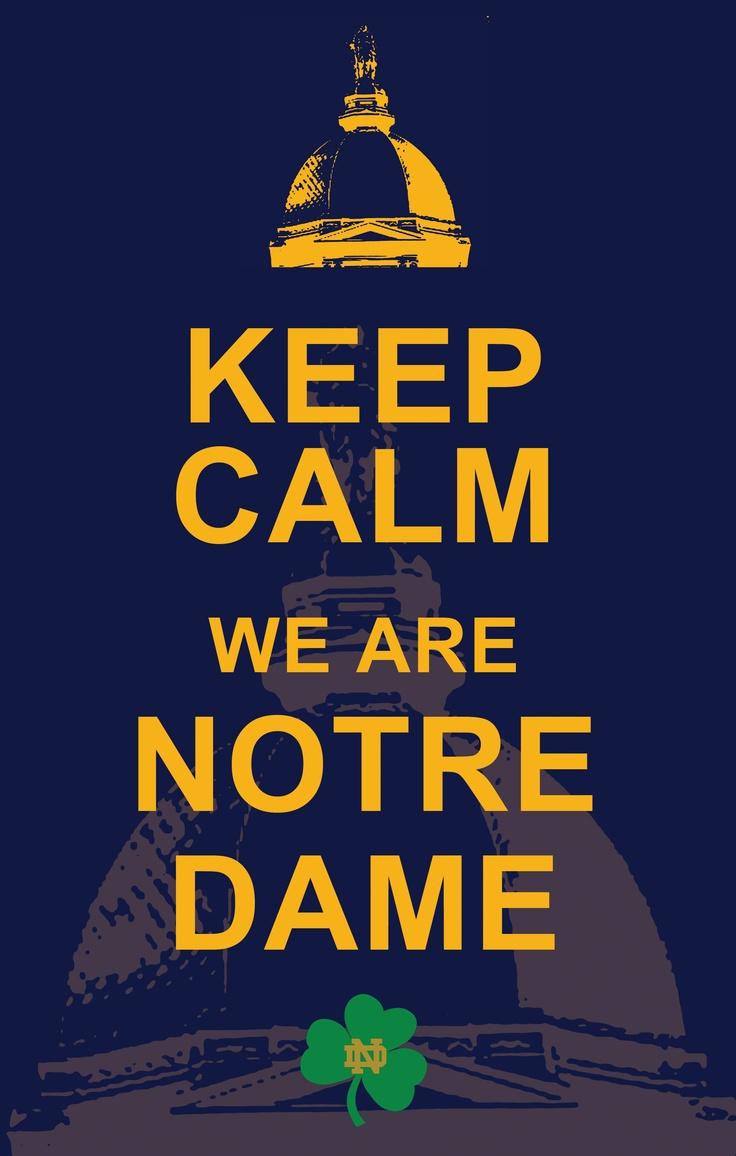 Yes. ND Irish Fighting Irish Pinterest Keep calm